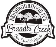 Pub Logo | Brandt's Creek - Kelowna's Neighbourhood Pub - Fine Food and Spirits