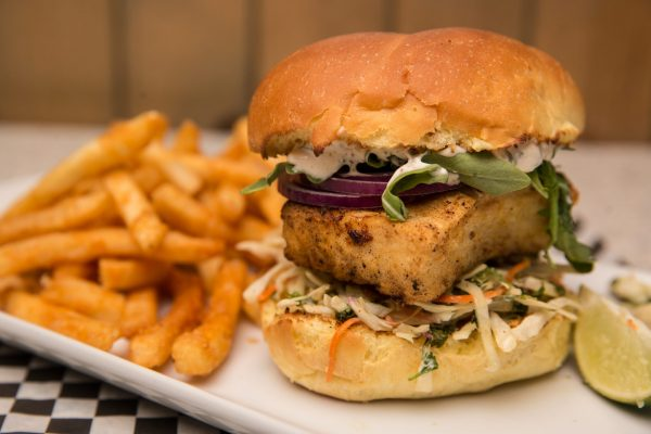 Halibut Burger - Kelowna Bar | Brandt's Creek Pub