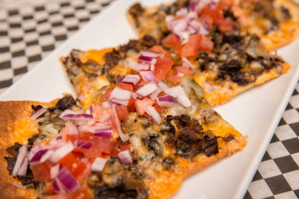 Beef & Mushroom Flatbread - Flatbreads & Sandwiches | Brandt's Creek Pub Kelowna