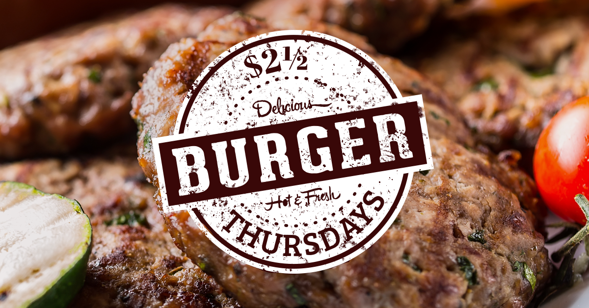 Brandts Burger Thursday | Best Burgers In Kelowna